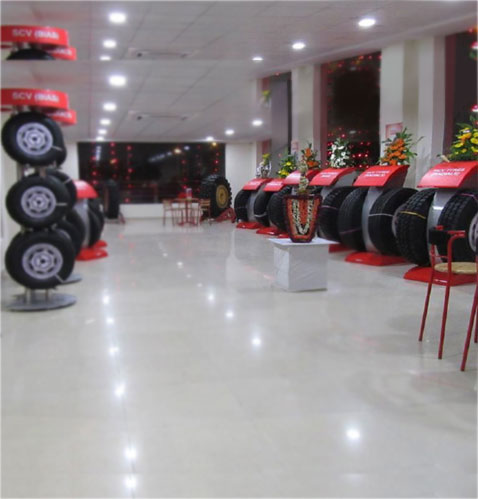 Access to entire range of MRF commercial vehicle tyres